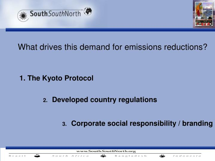 what drives this demand for emissions reductions n.
