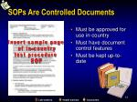 sops are controlled documents