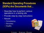 standard operating procedures sops are documents that