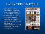 la lectura en italia1