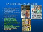 la lectura en mexico