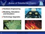 areas of excellence cont