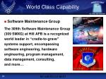 world class capability