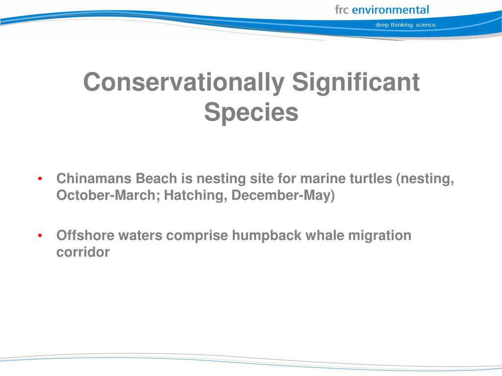 Conservationally Significant Species