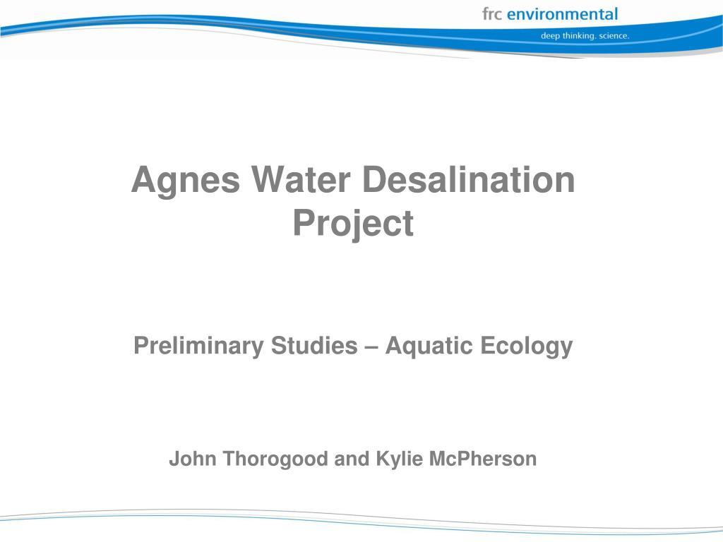 Agnes Water Desalination