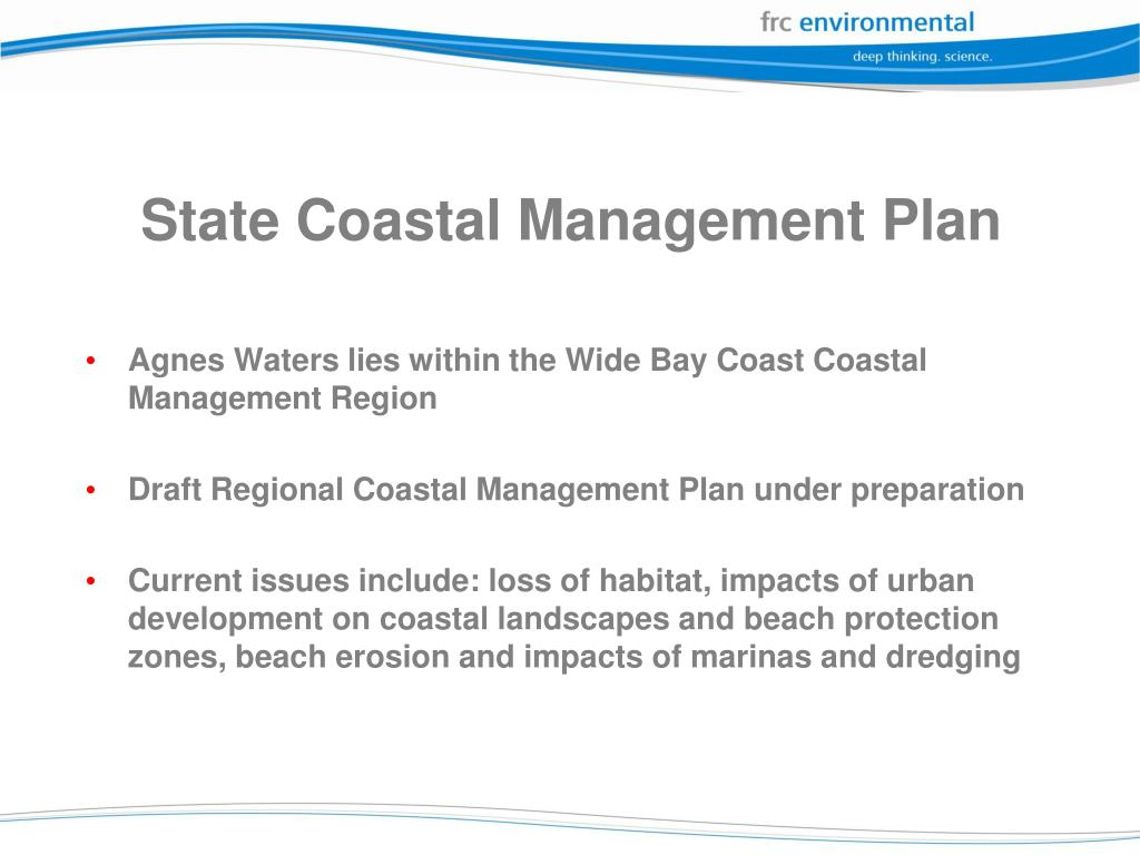 State Coastal Management Plan