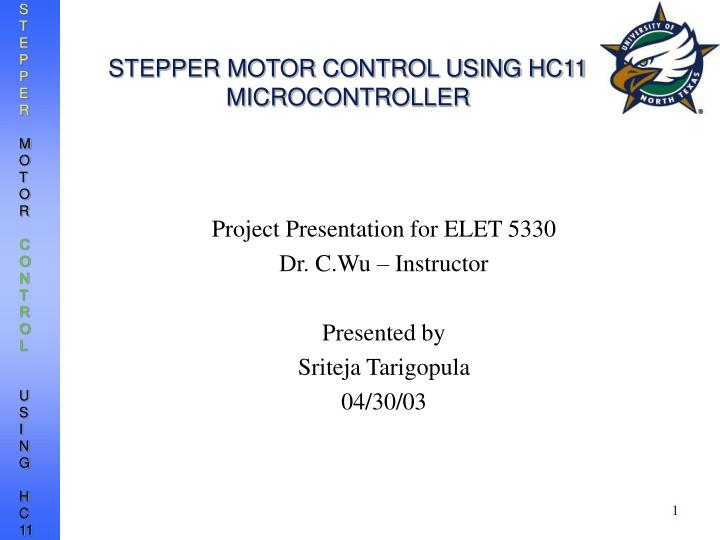 stepper motor control using hc11 microcontroller n.