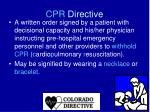 cpr directive