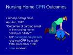 nursing home cpr outcomes