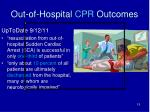 out of hospital cpr outcomes