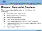 common successful practices