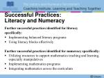 successful practices literacy and numeracy