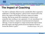 the impact of coaching