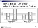 travel times 7th street mcdowell to northern actual and predicted