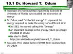 10 1 dr howard t odum