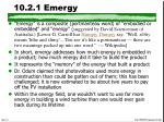 10 2 1 emergy