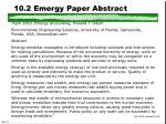 10 2 emergy paper abstract