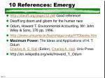 10 references emergy