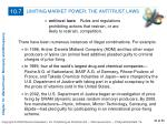 limiting market power the antitrust laws