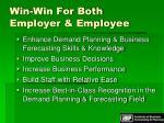 win win for both employer employee