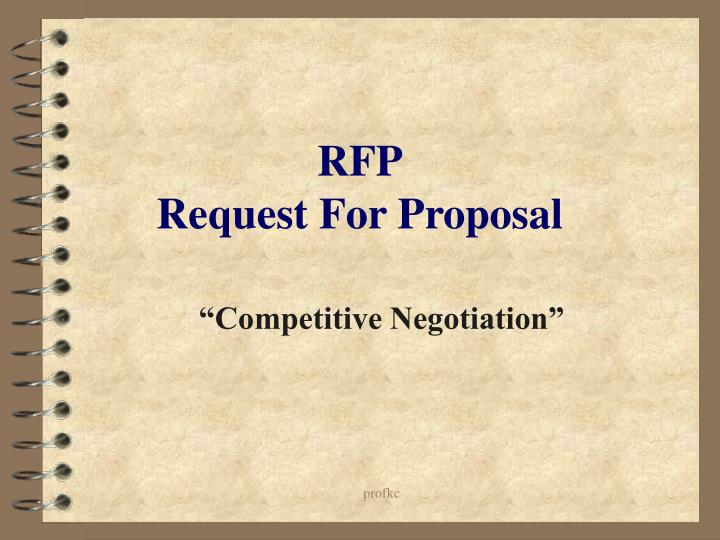 rfp request for proposal n.