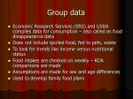 group data