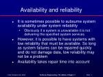 availability and reliability1