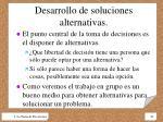 desarrollo de soluciones alternativas