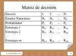 matriz de decisi n