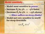 model sensitivity