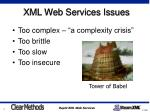 xml web services issues