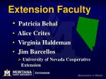 extension faculty