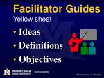 facilitator guides yellow sheet