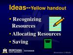 ideas yellow handout