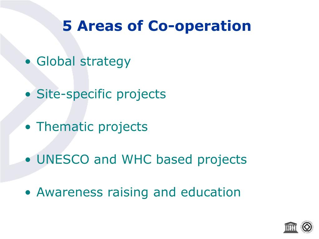 5 Areas of Co-operation