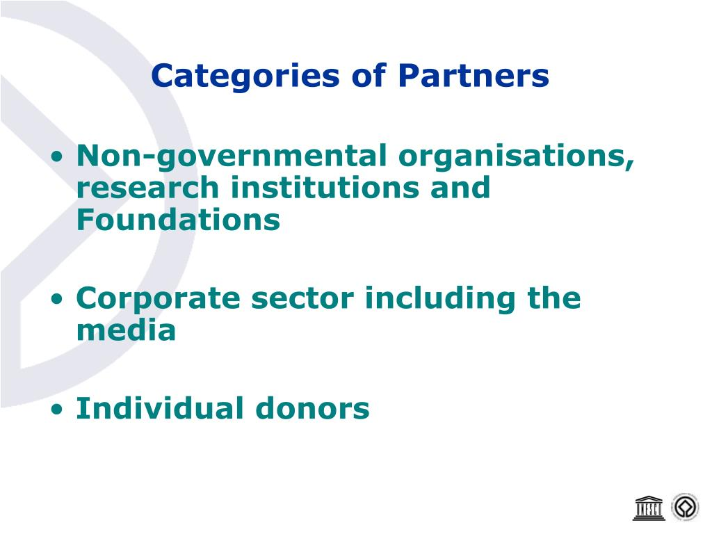 Categories of Partners