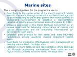 marine sites
