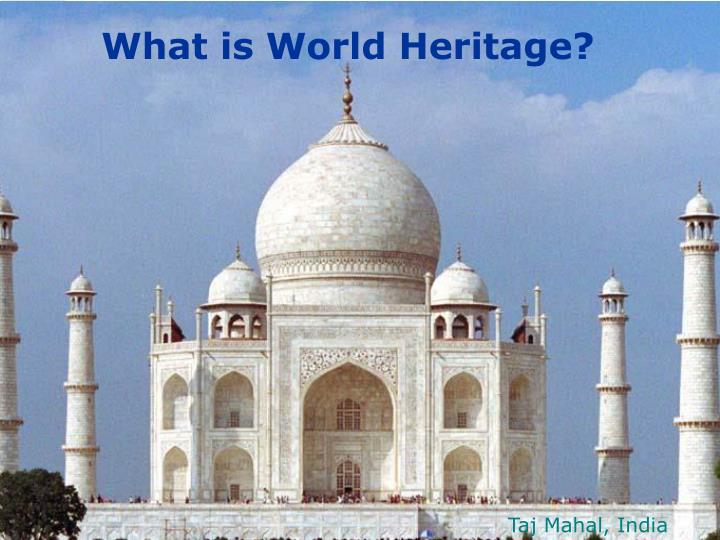 What is world heritage