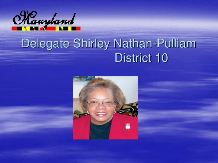 delegate shirley nathan pulliam district 10 n.