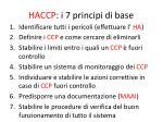 haccp i 7 principi di base