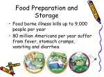 food preparation and storage