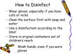 how to disinfect