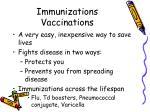 immunizations vaccinations