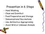 prevention in 6 steps