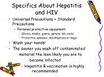 specifics about hepatitis and hiv1