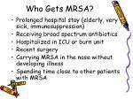 who gets mrsa