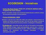 ecodesign iniciativas