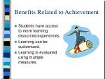 benefits related to achievement