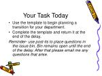your task today