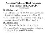 assessed value of real property the impact of the cal cpi1